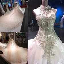 aliexpress com buy vestidos de noiva luxury crystal beaded bling