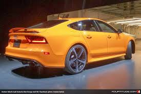 audi orange color graham rahal confirms custom glut orange audi exclusive rs 7
