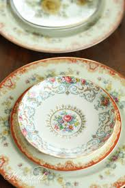 hayseed homemakin u0027 mismatched china plates u0026 saucers