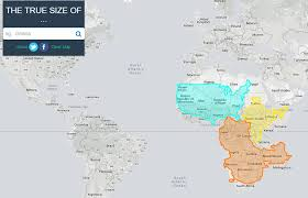 africa map real size the true size map lets you move countries around the globe to