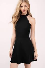 black dress backless dress black flare dress skater