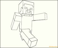 walking minecraft coloring free coloring pages