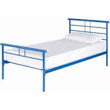 simple blue metal single bed frame metal beds single