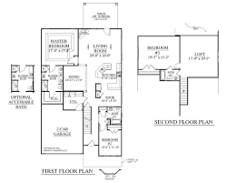 Attached 2 Car Garage Plans Optimum 2 Storey House Plans 1228 Home Design With Attached G