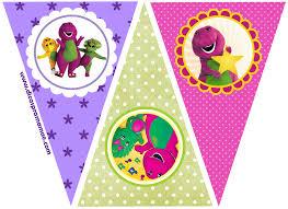Diy Barney Decorations Barney Party Free Printable Mini Kit Dínók Pinterest Barney