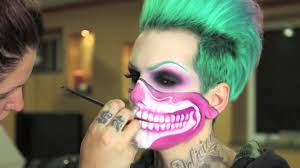 Youtube Halloween Makeup by Pink Skull Bandana Halloween Mask Time Lapse Jeffree Star