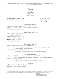 resume examples no experience college students sample resume year 12 student frizzigame cover letter college sample resume sample college resume for high