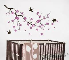 Purple Wall Decals For Nursery Wall Decals Nursery Tree Wall Decal Purple Cherry Blossom