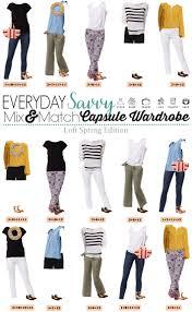 Wardrobe Clothing Loft Spring Capsule Wardrobe Mix And Match