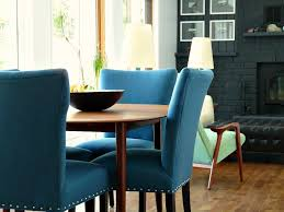 blue dining room chairs new blue tweed dining room chairs update the dining room dans le
