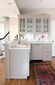 white oak wood colonial yardley door grey cabinets in kitchen