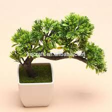 Artificial Pine Trees Home Decor Tree Sapling Green Artificial Fake Plants Tree Plastic Fabric Home