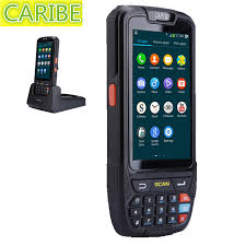 bar scanner for android caribe pl 40l pda android 5 1 portable programmable 1d barcode