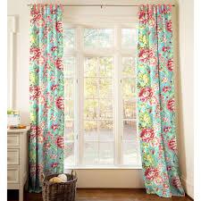 Teal Nursery Curtains Coral And Teal Floral Nursery Decor Carousel Designs