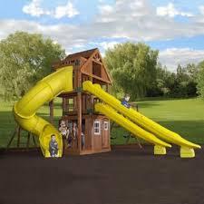 Backyard Discovery Weston Cedar Wooden Swing Set Backyard Discovery Swing Sets You U0027ll Love Wayfair