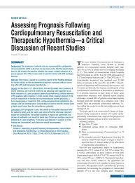 assessing prognosis following cardiopulmonary resuscitation and