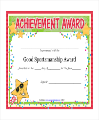 sportsmanship certificate template 4 free word pdf document