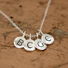 Stamped Jewelry Aliexpress Com Buy Tiny Round Alphabet Letter Personalized