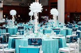 modern centerpieces bold turquoise reception with modern centerpieces