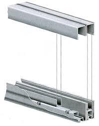 Glass Sliding Door Tracks For Cabinets Knape And Vogt P992zc48 Kv 48 1219mm Bearing Track Set