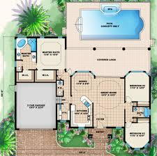 mediterranean style house plan 3 beds 2 50 baths 1786 sq ft plan