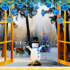Lighted Snowman Outdoor Decoration by Gym Equipment Christmas Snowman Decoration 4 Ft Air Blown
