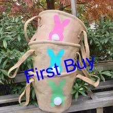 wholesale easter buckets buy burlap bunny and get free shipping on aliexpress