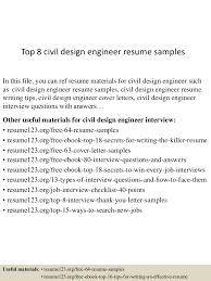 Resume Format For Civil Engineers Pdf Top8civildesignengineerresumesamples 150516091536 Lva1 App6891 Thumbnail 4 Jpg Cb U003d1431767783
