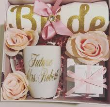 engagement gift basket personalized bridal engagement wedding gift basket box gift