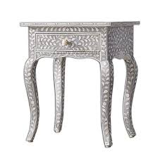 long side table with drawers luxury handicrafts bone inlay floral curved long leg side table 1