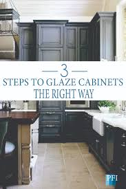 how to remove polyurethane from kitchen cabinets painted furniture ideas 3 steps to glaze cabinets
