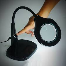 large magnifying glass with light 5x 12x light magnifier desk stand table l magnifier 45 led