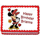 Red Minnie Mouse Cake Decorations Amazon Com Minnie Mouse Cake U0026 Cupcake Toppers Party Supplies