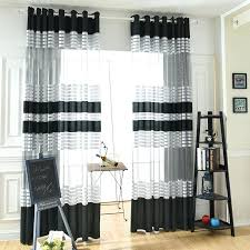 Black And White Window Curtains Black White Curtains Teawing Co