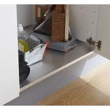 protege evier cuisine protection aluminium sous évier pour meuble l 60 cm delinia leroy
