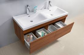 Floating Bathroom Vanity Abersoch 55 Inch Wall Mounted Double Sink Bathroom Vanity