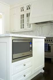 microwave in island in kitchen kitchen island microwave nook transitional kitchen
