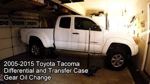 2005 2015 toyota tacoma 4x4 differential and transfer case oil