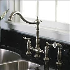 bridge style kitchen faucet brushed nickel kitchen faucet with matching sprayer bridge style