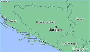 where is on the map where is sarajevo bosnia and herzegovina where is sarajevo