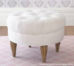 Tuffted Ottoman Tufted Ottoman Pottery Barn