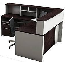 Mobile Reception Desk Amazon Com Ofm Marque Series Single Unit Curved Reception Station
