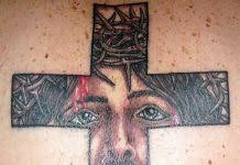 without color jesus cross tattoo design tattoos book 65 000