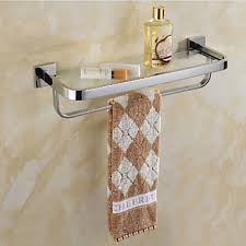 contemporary mirror polished wall mounted bathroom shelves towel