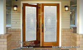 Etched Glass Exterior Doors Modern Glass Exterior Doors Squares Etched Glass Front Doors