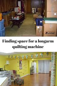 finding space for a longarm quilting machine lots of quilters