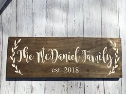 wedding gift signs laser engraved rustic family sign wood family established sign