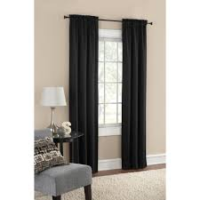 Black Window Valance Decor Dark Wood Side Table With Table Lamp And Decorative Walmart