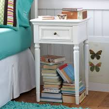 how high should a bedside table be chelsea simple bedside table pbteen