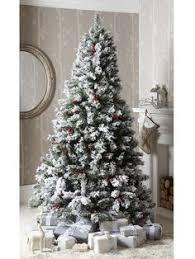 bavarian pine christmas tree with snow 7ft christmas tree
